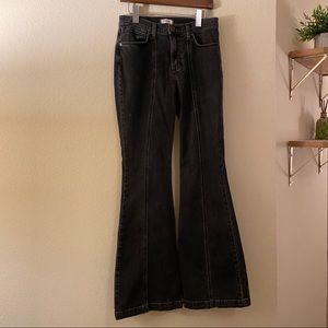 Wrangler Black Flare Leg Jeans